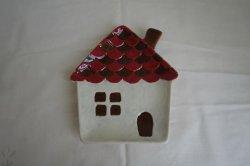 画像1: ノルディックデコ クリスマスプレート ハウス S