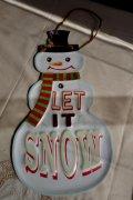 ダイカットサインクリスマス スノーマン2