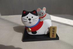 画像1: デコレ コンコンブル 干支飾り 福猫福ねずみ