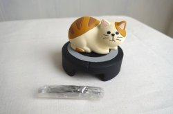 画像1: デコレ ハッピーキャットデイ 掃除機型クリップホルダー トラ猫